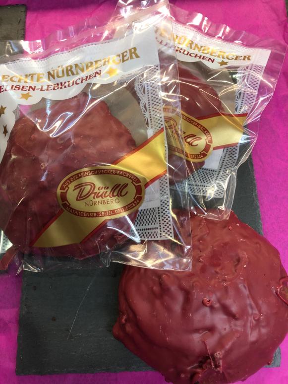 1 Elisenlebkuchen Inspiration Himbeere, einzelverpackt