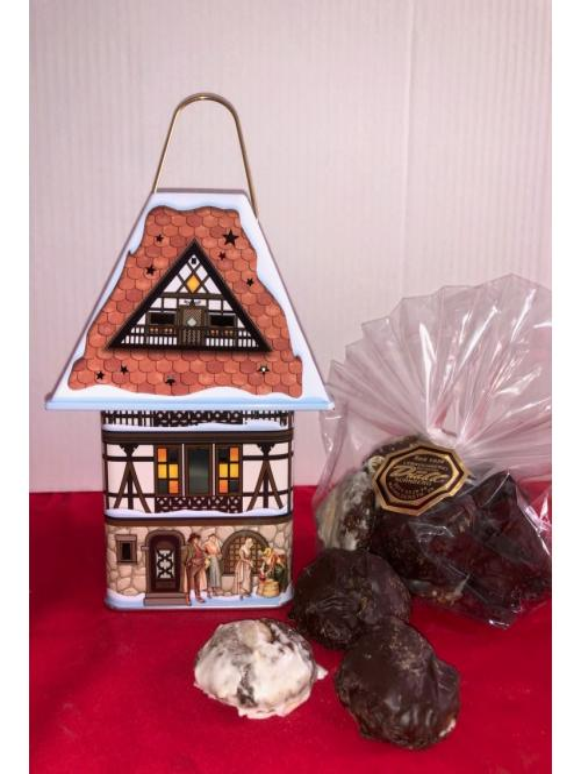 Teelichthaus mit 200g Mini-Elisen